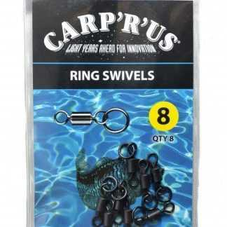 Carp ´R´ Us Obatlíky s koužkem Ring Swivel vel.8 8ks