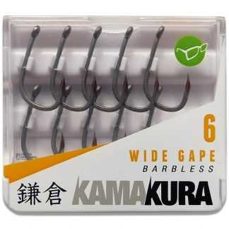 Korda Háčky Kamakura Wide Gape Barbless 10ks