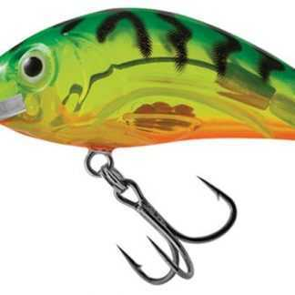 Salmo Wobler Rattlin Hornet Clear Floating Clear Hot Green Tiger