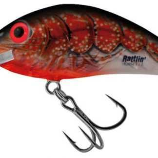 Salmo Wobler Rattlin Hornet Clear Floating Clear Bleeding Craw