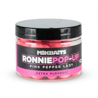 Mikbaits Plovoucí boilie Ronnie pop-up Pink Pepper Lady 150ml