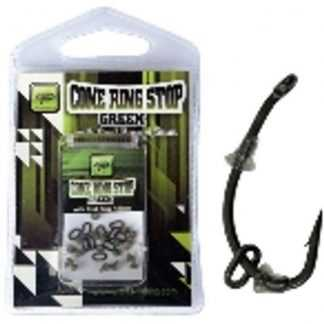 Giants Fishing Slídová zarážka s kroužkem Cone Ring Stop Translucent Green with Oval Ring 4